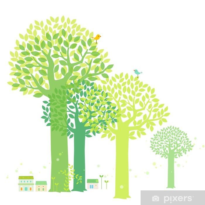 Poster Frühlingsbaum - Jahreszeiten