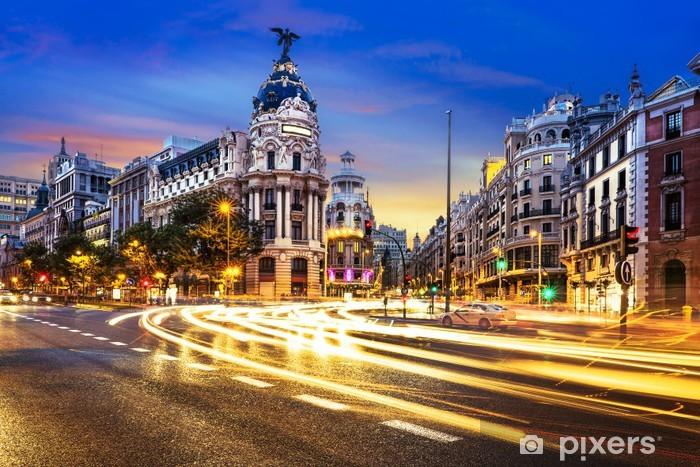 Sticker Pixerstick Centre-ville de Madrid, Gran Vis Espagne - Villes européennes