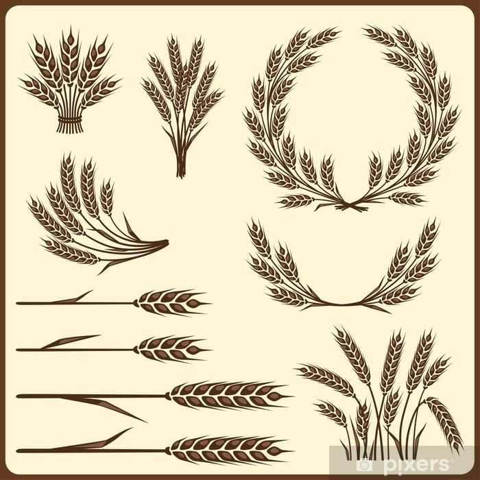 Poster Éléments de collecte de céréales pour la conception. - Agriculture