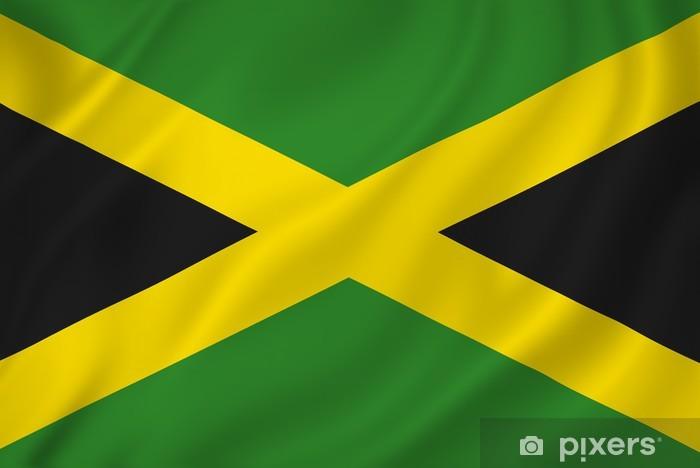 Papier peint vinyle Drapeau jamaica - Thèmes