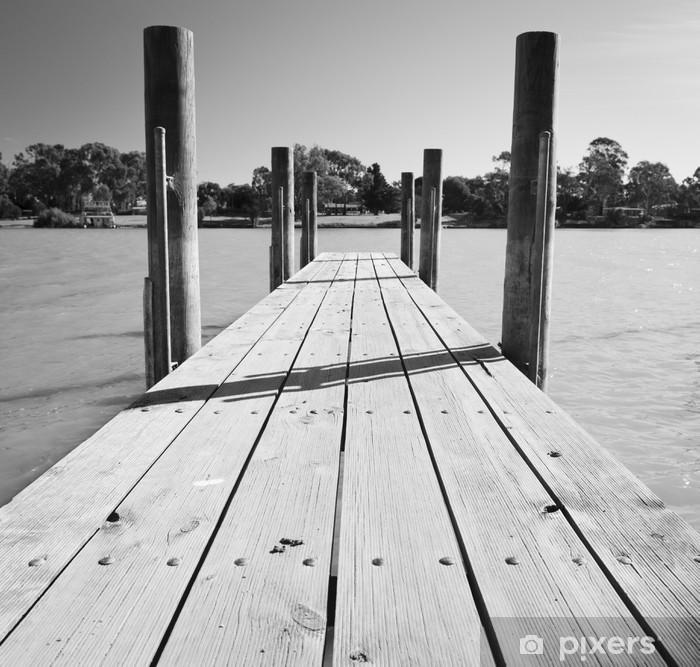 Fototapeta winylowa Murray River Jetty Black and White - Style