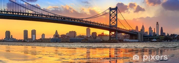 Fototapeta winylowa Panorama philadelphia skyline, Ben Franklin mostu i Penna - Tematy