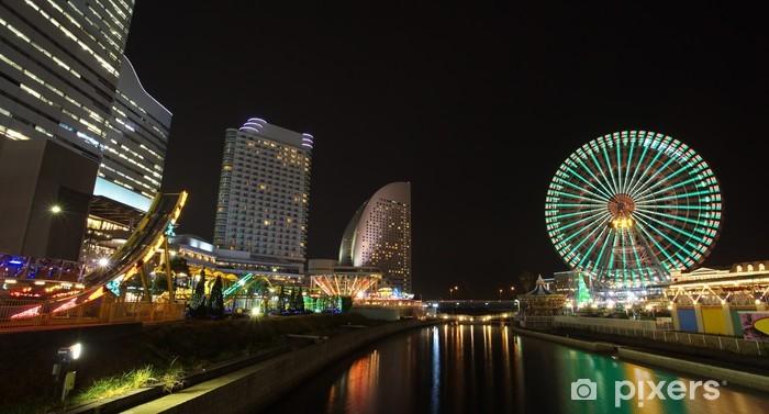 Nálepka Pixerstick Pohled na Yokohama panorama na Minato Mirai-oblasti - Asie