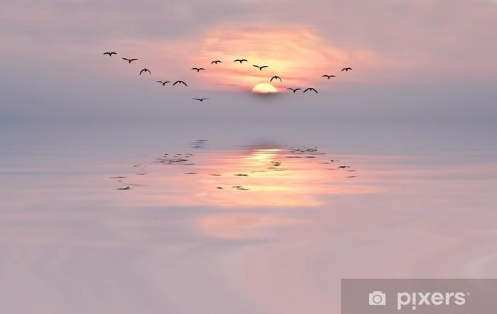 Abwaschbare Fototapete Sanfte Farben der Morgendämmerung - iStaging