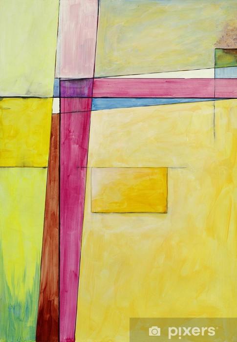 Pixerstick Aufkleber Eine abstrakte Malerei - Kunst und Gestaltung