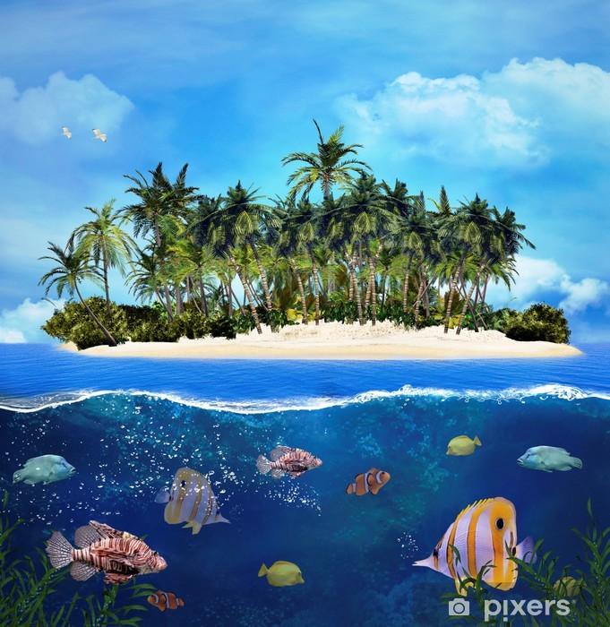 Vinilo Pixerstick Isla tropical y arrecifes de coral - Arrecife de coral
