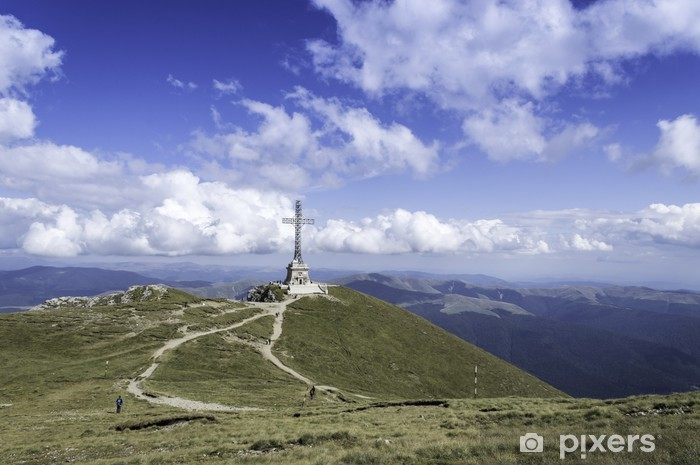 Sticker Pixerstick Sentier rocailleux dans les montagnes en été - Montagne