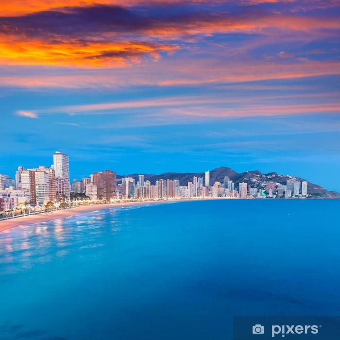 Fototapeta winylowa Benidorm słońca Alicante Playa de Levante plaży zachód słońca w Hiszpanii - Tematy