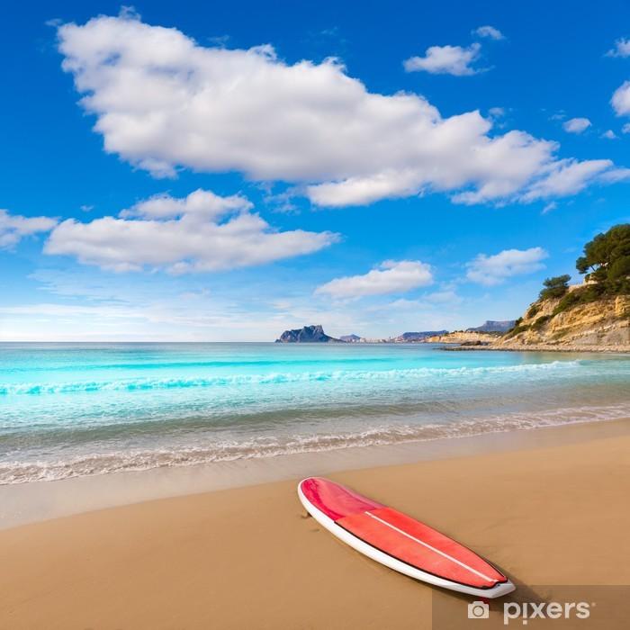 Fototapeta winylowa Plaża Moraira Playa El Portet z wiosła sufrboard w Alicante - Europa