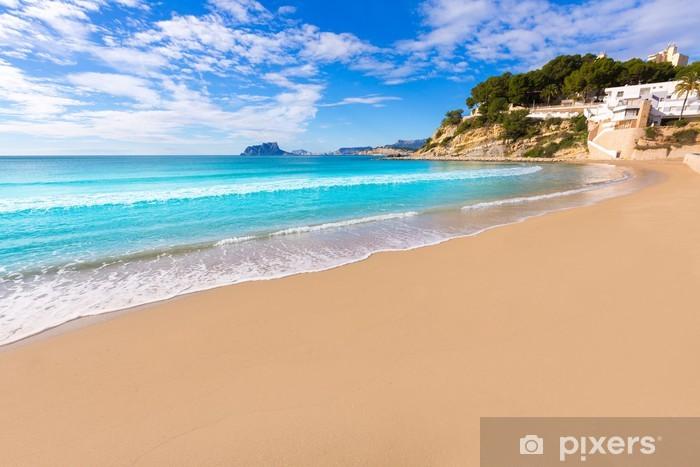 Fototapeta winylowa Moraira plaża Playa El Portet turkusowe wody w Alicante - Europa