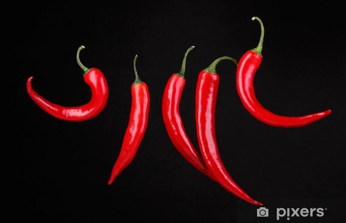 Fototapeta winylowa Red Hot Chili Peppers wyizolowanych na czarny -