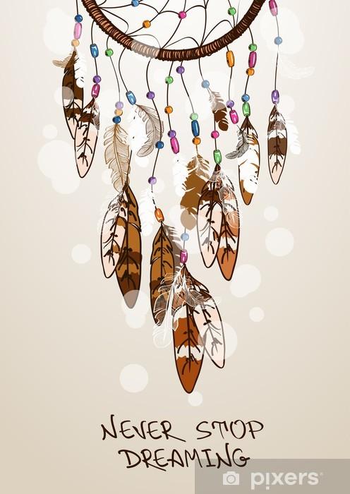 Fototapeta samoprzylepna Ilustracji z Indianie Dreamcatcher - Ezoteryka