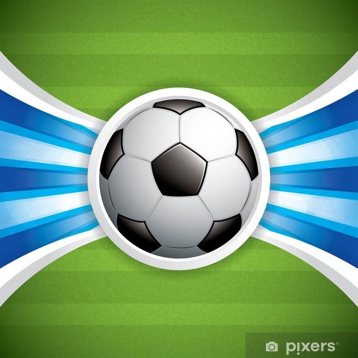 Fotomural Estándar El balón de fútbol de fondo - Partidos y competiciones 2739610f5edcd