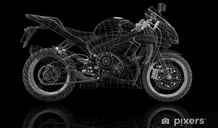 Nálepka Pixerstick Kolo, motocykl, 3D model - Na cestě