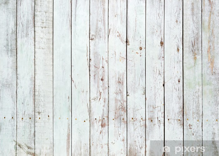Black and white background of wooden plank Vinyl Wall Mural -