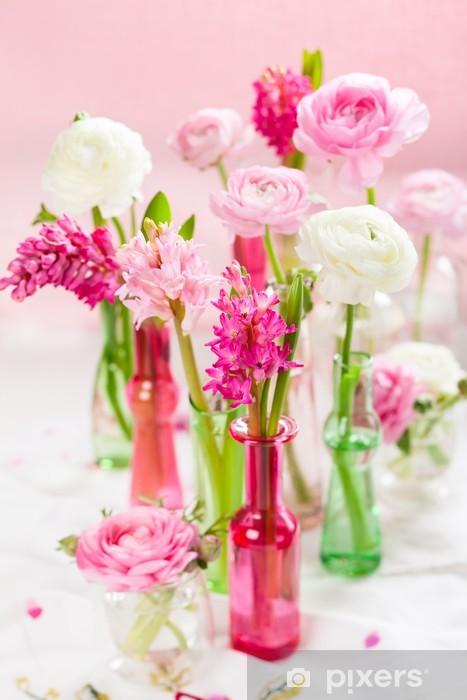 Papier peint vinyle Fleurs printanières - Fleurs