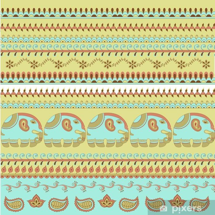 Pixerstick Sticker Indiase patroon olifant - Kunst en Creatie