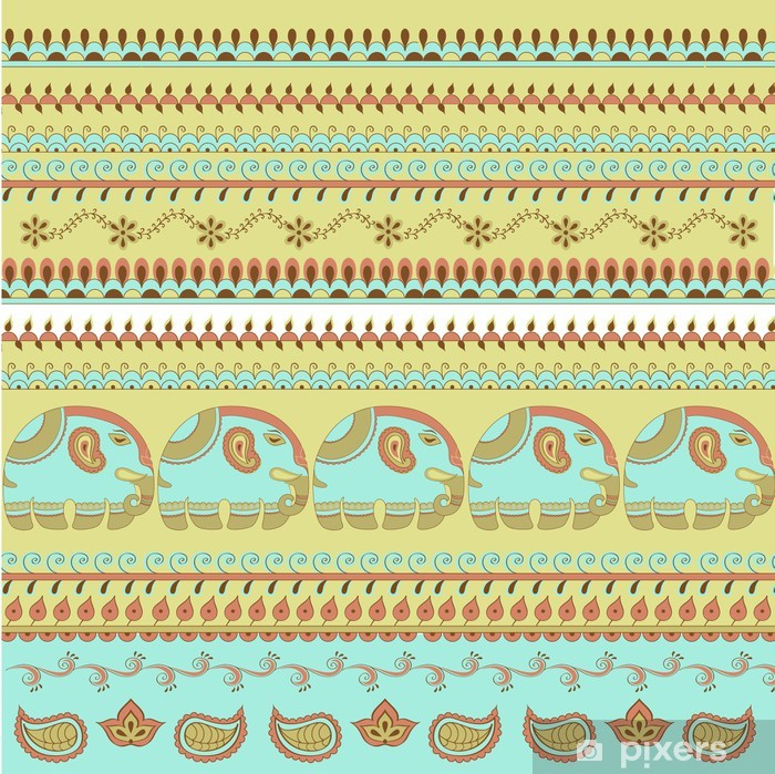 Sticker Pixerstick Motif éléphant indien - Art et création