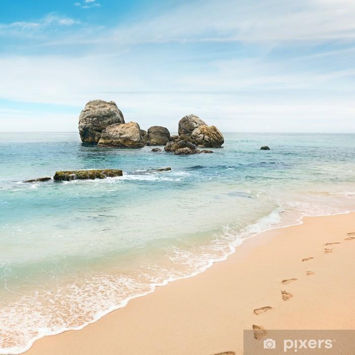 Poster Großen Felsen im Meer - Wasser