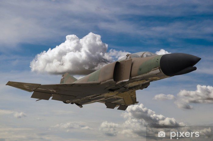 Pixerstick Aufkleber Militär-Jet - Themen