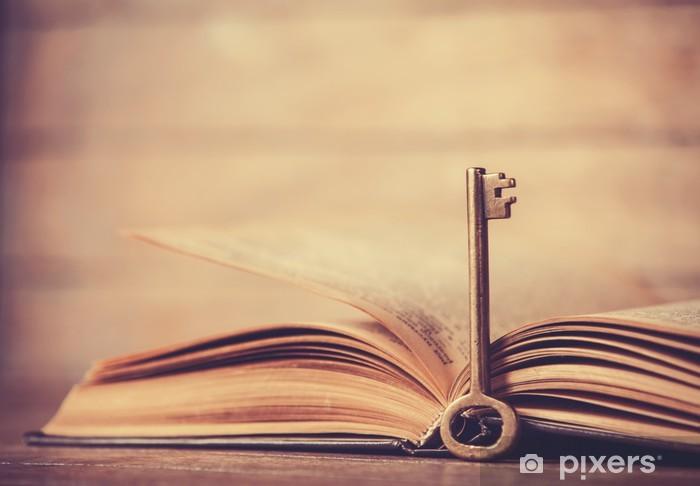 Pixerstick Aufkleber Retro-Taste und geöffneten Buch - Sonstige Gefühle