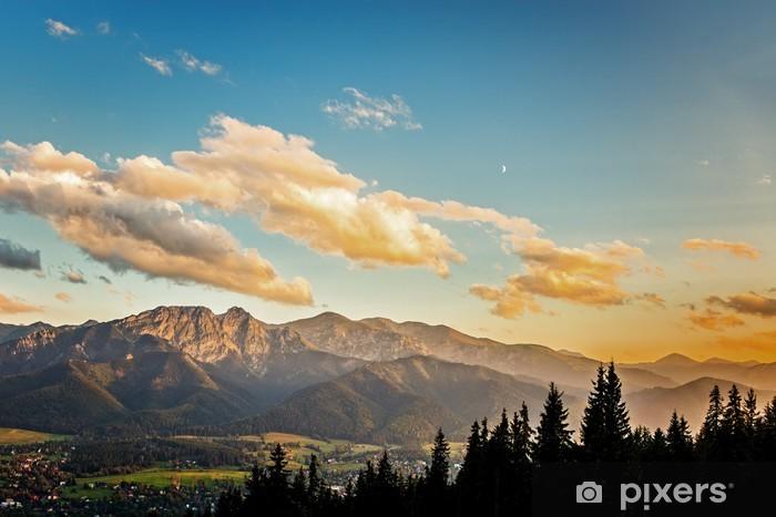 Pixerstick Aufkleber Auf der Panorama der Tatra bei Sonnenuntergang, Polen. - Themen