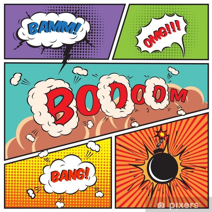 Vinyl Fotobehang Comic Speech Bubbles - Thema's