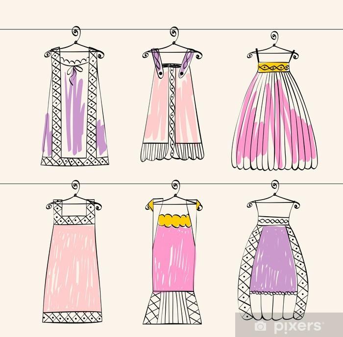 bd89f7958275 Fototapet Vektor fashionabla vackra kläder för små flickor • Pixers ...