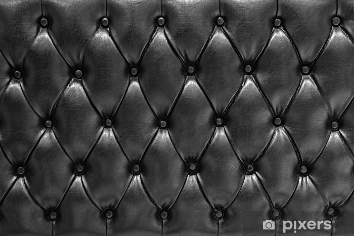 Vinilo Pixerstick Fondo de la textura Cuero acolchado tipo negro chesterfield - iStaging