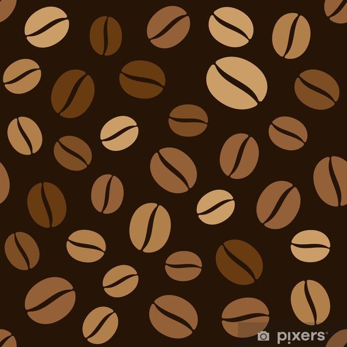Plakat Ziarna kawy bez szwu wzór na ciemnym tle - Finanse