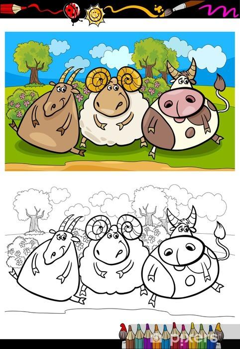 Sayfa Boyama Karikatur Ciftlik Hayvanlari Duvar Resmi Pixers