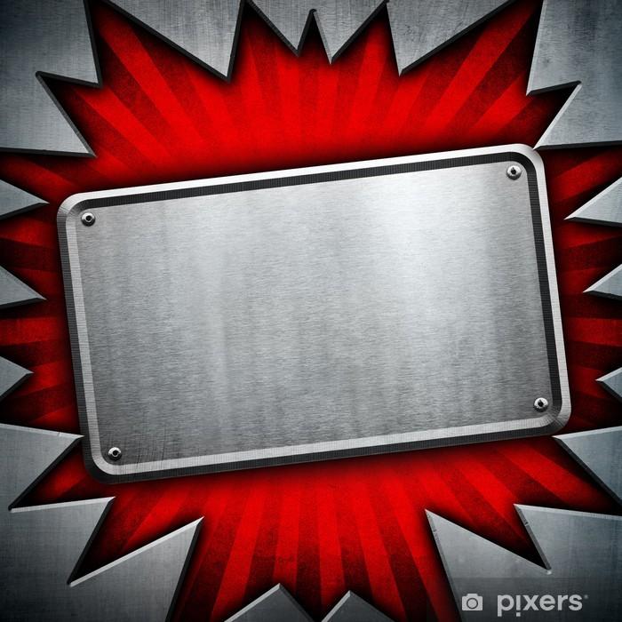 Naklejka Pixerstick Płytki metalowej tła - Tekstury
