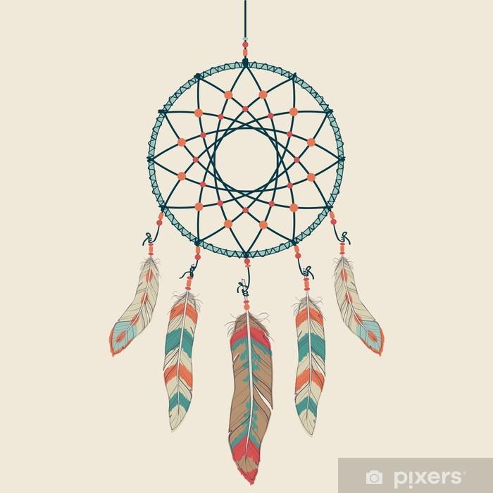 Papier peint vinyle Vector illustration colorée d'attrape-rêves - Styles