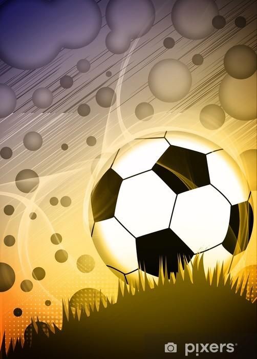 Pixerstick Sticker Voetbal of voetbal achtergrond - Bestemmingen