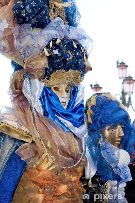 Papier peint vinyle Maschere veneziane - masques vénitiens - Divertissements