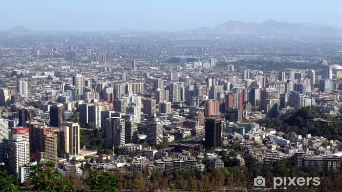 Naklejka Pixerstick Santiago de Chile - Ameryka