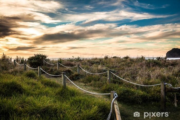 Naklejka Pixerstick Piha Plaża - Oceania