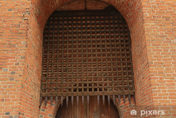 Pixerstick Aufkleber Gitter zum Schutz - Denkmäler