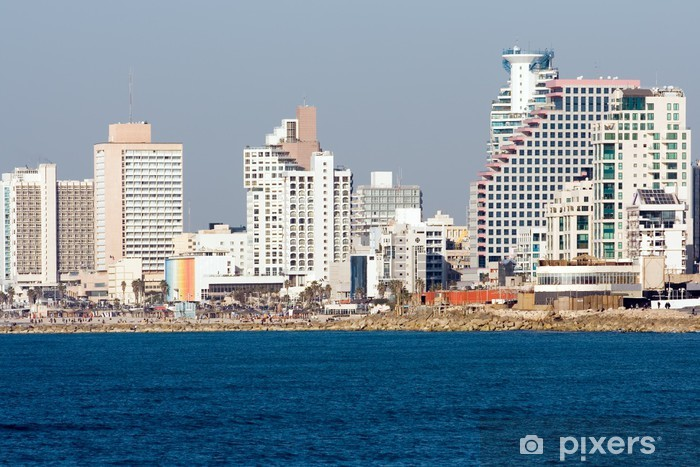 Vinylová fototapeta Tel Aviv - Pohled na pláž z Jaffy. - Vinylová fototapeta