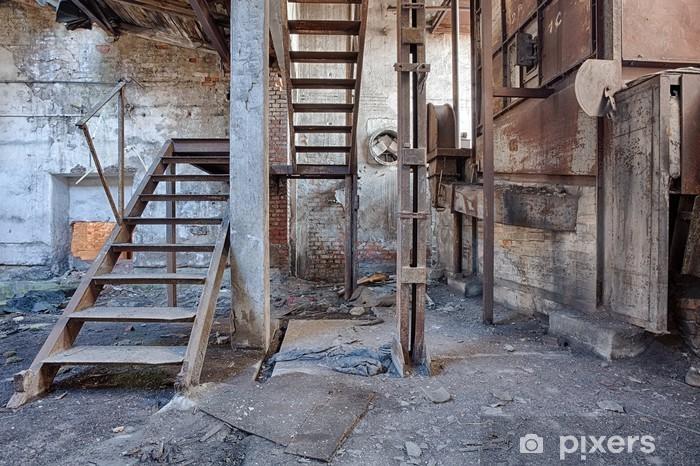 Sticker Pixerstick Ancienne usine de briques abandonné et oublié - Styles