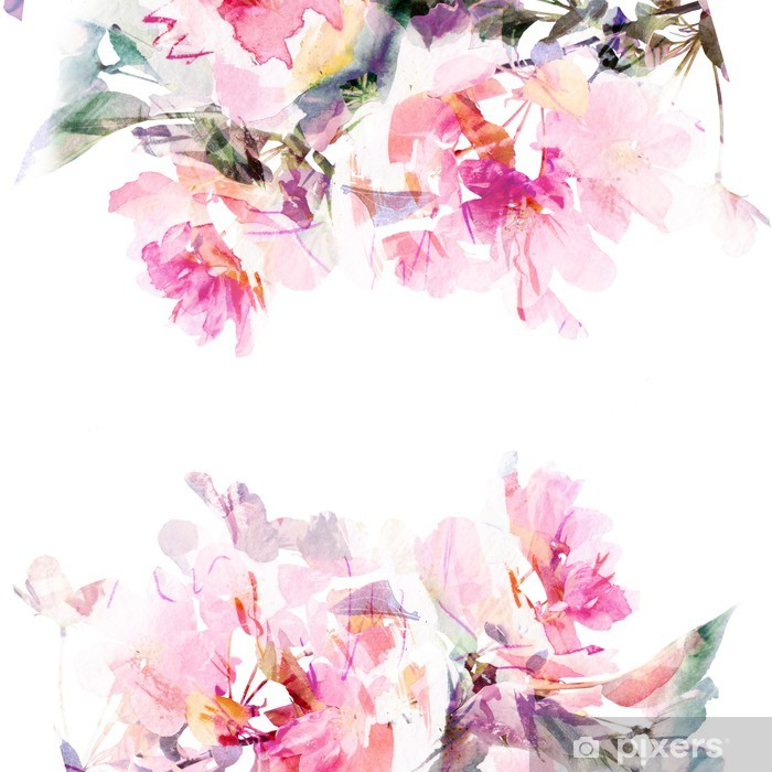 Floral Watercolor Background Roses Wall Mural Pixers We