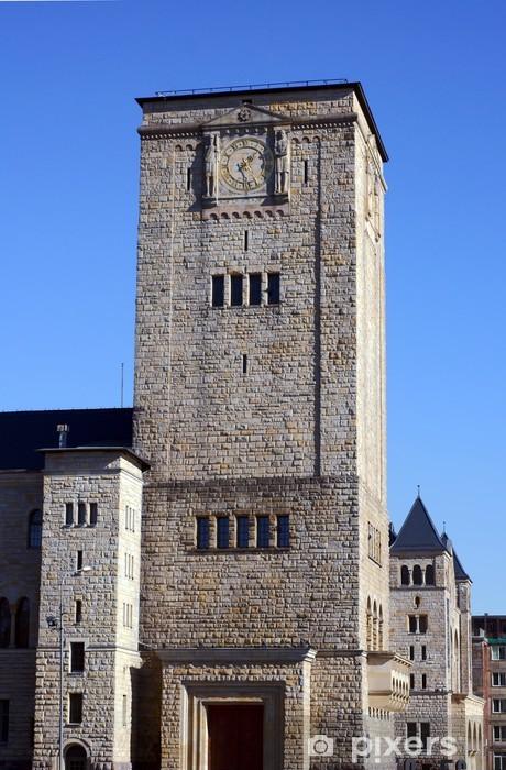 Sticker Pixerstick L'horloge de la tour du château de l'Imperial à Poznan - Vacances