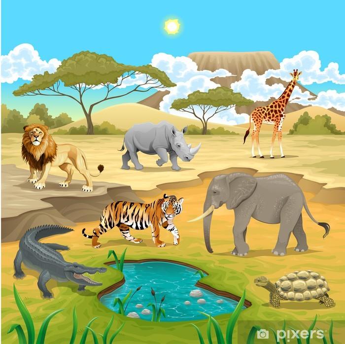 Papier peint vinyle Animaux africains dans la nature - Mammifères