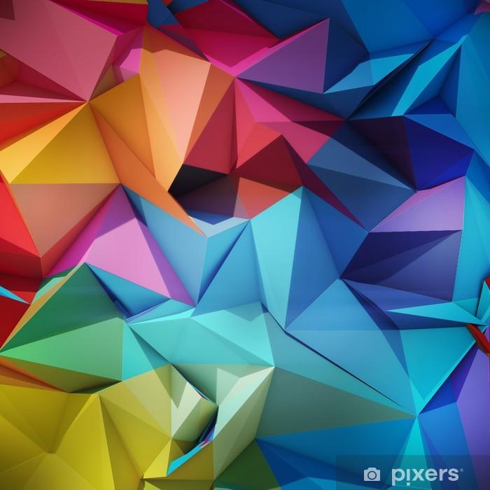 Pixerstick-klistremerke Abstrakt geometrisk bakgrunn - Styles