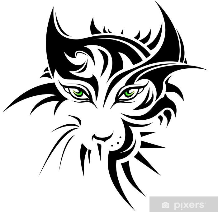 Naklejka Tygrys W Stylu Streszczenie Tatuaż Pixerstick