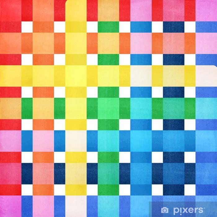 Poster Checkered bunten Hintergrund Vektor - Hintergründe