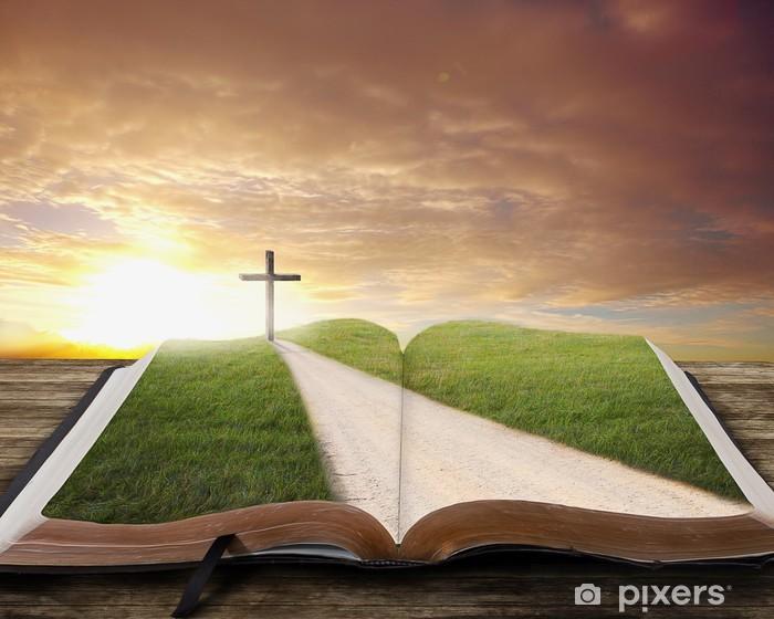 Naklejka Pixerstick Otwórz Biblię z drogi. - Czytanie