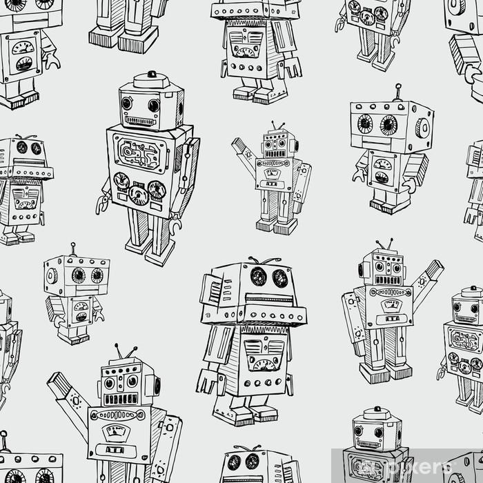 Fototapeta winylowa Wzór zabawki robotów - Style