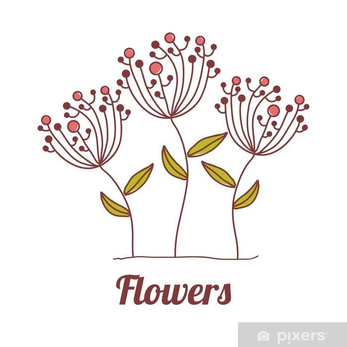 Plakat Kwiaty projektu - Znaki i symbole