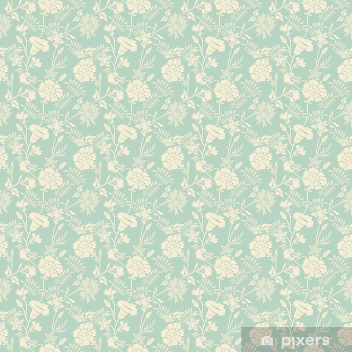 Seamless abstract floral pattern background Pixerstick Sticker - Styles